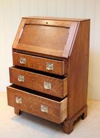 Arts and Crafts Oak Bureau (2 of 11)
