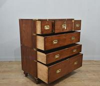 Antique Mahogany Campaign Military Chest Of Drawers (4 of 8)