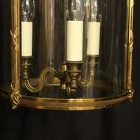 French Gilded Bronze Convex Antique Hall Lantern (4 of 10)