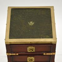 Antique Military Campaign Style Mahogany Miniature Chest of Drawers (4 of 12)