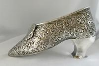 Large Very Rare Sterling Silver Shoe Box. Birmingham 1921 (4 of 9)