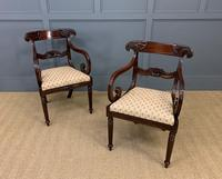 Excellent Pair of Regency Mahogany Scroll Armchairs (5 of 17)