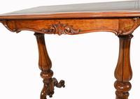 Victorian Writing Table Walnut Tulip Leg Desk c.1880 (7 of 10)