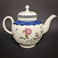 18th Century Liverpool Tea Pot (4 of 6)