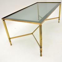 1960's Vintage French Brass Coffee Table (6 of 7)