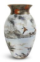 Meiji Period Kutani Vase Decorated with Water Birds (3 of 5)