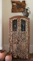 Unique Tall Two Door Teak & Painted Cabinet (7 of 16)
