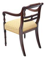 Georgian Mahogany Elbow Desk Carver Chair c.1820 (5 of 8)