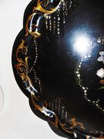 Large Victorian Papier Mache Tray (6 of 6)