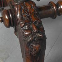 Antique Oak Flemish Writing Table (13 of 15)