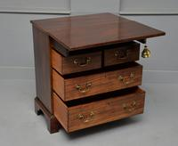 Small Georgian Mahogany Bachelors Writing Chest of Drawers with Provenance (10 of 24)