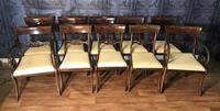 Mahogany Dining Table & Set of 10 Regency Style Chairs (13 of 19)