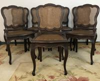 Antique French Set Of 8 Bergère Cane Dining Chairs