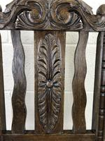 19th Century Antique Gothic Carved Oak Chair (3 of 8)
