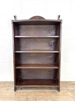 Early 20th Century Antique Oak Bookcase with Four Shelves (3 of 10)