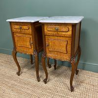 Pair of Hungarian Ash Antique Bedside Cabinets (4 of 6)