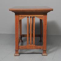 Glasgow Style Art Nouveau Library Table c.1890 (7 of 8)