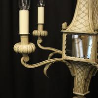 English 5 Light Polychrome Pagoda Chandelier (5 of 10)