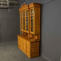 Edwardian Oak Breakfront Bookcase with Open Central Section (2 of 10)