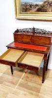 19th Century French Flame Mahogany Desk (4 of 6)