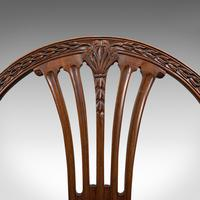 Pair of Antique Hepplewhite Revival Side Chairs, English, Seat, Victorian, 1890 (10 of 12)