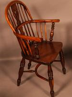 A Set of 4 Yew Tree Windsor Chairs Rockley Workshop (13 of 21)