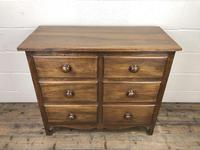 Antique Mahogany Chest of Six Drawers (2 of 9)