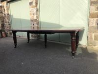 Antique Mahogany 3 Leaf Extending Dining Table (6 of 12)