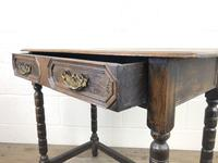Antique Oak Side Table with Geometric Drawers (2 of 10)