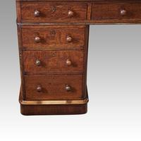 Victorian Oak Pedestal Desk (9 of 11)