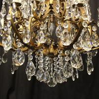 Italian Gilt & Crystal 21 Light Antique Chandelier (8 of 10)