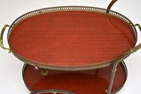 1960's Vintage French Brass Drinks Trolley (10 of 13)