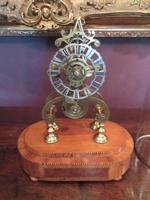 Antique Single Fusee Inlaid Skeleton Clock (2 of 10)