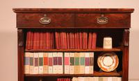 19th Century Mahogany Open Bookcase with Two Drawers (3 of 12)