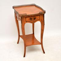 Antique French King Wood Side Table (9 of 9)
