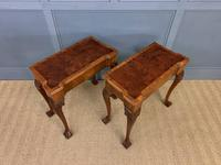 Pair of Burr Walnut Tea Tables (6 of 21)