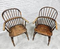 Near Pair of Stickback Windsor Armchairs (7 of 8)