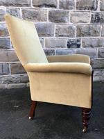 Antique Mahogany Library Armchair (5 of 10)