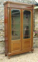 19th Century French Directoire Style Mahogany Bookcase Cabinet (5 of 11)