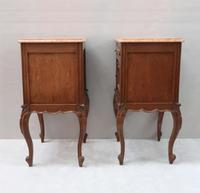 Pair of Early 20th Century Continental Oak Bedside Cabinets (6 of 8)