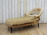Antique French Chaise Longue Day Bed for re-upholstery (5 of 8)