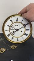 Walnut & Ebonised Key Hole Vienna Wall Clock (5 of 5)