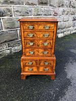 Antique Figured Walnut Small Chest Drawers (8 of 10)