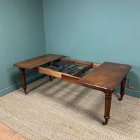 Large Stunning  Victorian Figured Mahogany Antique Wind Out Dining Table (4 of 9)
