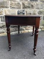 Antique Walnut Writing Library Table (6 of 8)
