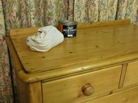 Small Edwardian Pine Chest of Drawers Stripped & Bees-waxed (7 of 9)