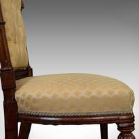 Set of 4 Antique Chairs, Scottish, Walnut, Suite, Dining, Victorian c.1890 (10 of 12)
