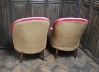 Pair of French Upholstered Fauteuil Armchairs (4 of 5)