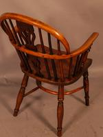 Yew Wood Low Back Windsor Chair Rockley Maker (3 of 10)
