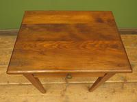 Small Antique Pine Table with Drawer, Very Small Desk (2 of 13)